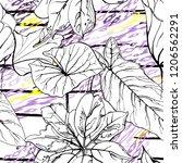 tropical  stripe  animal motif. ...   Shutterstock .eps vector #1206562291