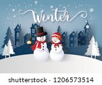 merry christmas and happy new... | Shutterstock .eps vector #1206573514