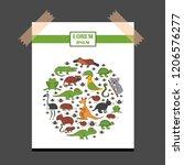 vector cartoon illustration... | Shutterstock .eps vector #1206576277