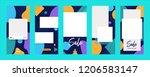 instagram stories template...   Shutterstock .eps vector #1206583147