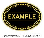 gold and black color oval...   Shutterstock .eps vector #1206588754