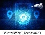 2d  rendering travel and... | Shutterstock . vector #1206590341