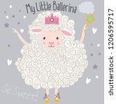 cute lamb illustration   Shutterstock .eps vector #1206595717