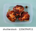 baked chicken thighs. in a... | Shutterstock . vector #1206596911