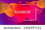rainbow fluid background.... | Shutterstock .eps vector #1206597151