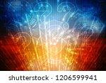 2d illustration question mark | Shutterstock . vector #1206599941