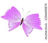 beautiful pink butterflies... | Shutterstock .eps vector #1206600874