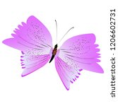 beautiful pink butterflies... | Shutterstock . vector #1206602731