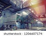 industrial steel pipelines ... | Shutterstock . vector #1206607174