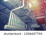 equipment  cables and piping as ... | Shutterstock . vector #1206607744