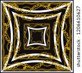 scarf pattern . scarf design... | Shutterstock . vector #1206610627