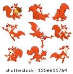 set of vector cartoon... | Shutterstock .eps vector #1206611764