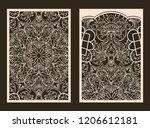 set of 2 wedding invitation or... | Shutterstock .eps vector #1206612181