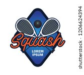 squash logo with text space for ... | Shutterstock .eps vector #1206624394
