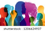 silhouette profiles of... | Shutterstock .eps vector #1206624937