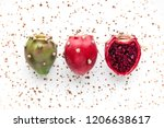 Prickly Pear Fruit On A...