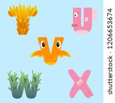 alphabet design of marine...   Shutterstock .eps vector #1206653674