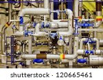 industrial background with the... | Shutterstock . vector #120665461