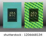 moroccan pattern vector cover...   Shutterstock .eps vector #1206668134