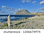 mount cofano stands out above... | Shutterstock . vector #1206674974