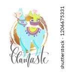 llamaste   funny poster or...   Shutterstock .eps vector #1206675331