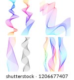 design elements. wave of many... | Shutterstock .eps vector #1206677407
