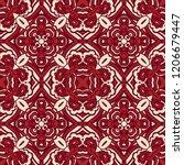 damask seamless tiled motif...   Shutterstock .eps vector #1206679447