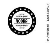 original vodka vintage stamp.... | Shutterstock .eps vector #1206680434