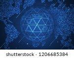 global network security.... | Shutterstock . vector #1206685384