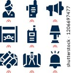 simple set of  9 filled icons... | Shutterstock .eps vector #1206697477