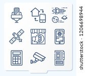 simple set of 9 icons  such as... | Shutterstock .eps vector #1206698944