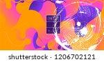 luid color background. liquid... | Shutterstock .eps vector #1206702121