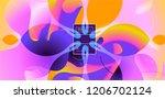 luid color background. liquid... | Shutterstock .eps vector #1206702124