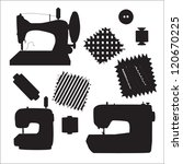 sewing machines kit black... | Shutterstock .eps vector #120670225