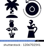 set of 4 nature filled icons... | Shutterstock .eps vector #1206702541