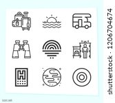 simple set of 9 icons such as... | Shutterstock .eps vector #1206704674