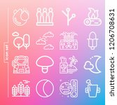 simple set of 16 icons such as... | Shutterstock .eps vector #1206708631