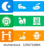 simple set of  9 filled icons... | Shutterstock .eps vector #1206710884