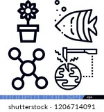 set of 4 nature outline icons... | Shutterstock .eps vector #1206714091
