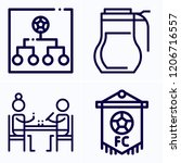 simple set of 4 icons  such as... | Shutterstock .eps vector #1206716557