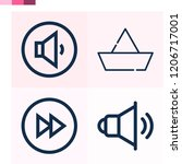 contains such icons as paper... | Shutterstock .eps vector #1206717001