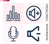 contains such icons as volume ... | Shutterstock .eps vector #1206720361