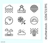 simple set of 9 icons related... | Shutterstock .eps vector #1206721591