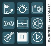 contains such icons as cpu ... | Shutterstock .eps vector #1206721867