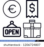 set of 4 business outline icons ... | Shutterstock .eps vector #1206724807