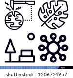 set of 4 nature outline icons... | Shutterstock .eps vector #1206724957