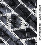 old film strip with some spots | Shutterstock . vector #120672505