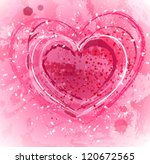 pink background with heart | Shutterstock .eps vector #120672565