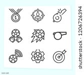 simple set of 9 icons related... | Shutterstock .eps vector #1206726394