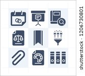 simple set of 9 icons related... | Shutterstock .eps vector #1206730801